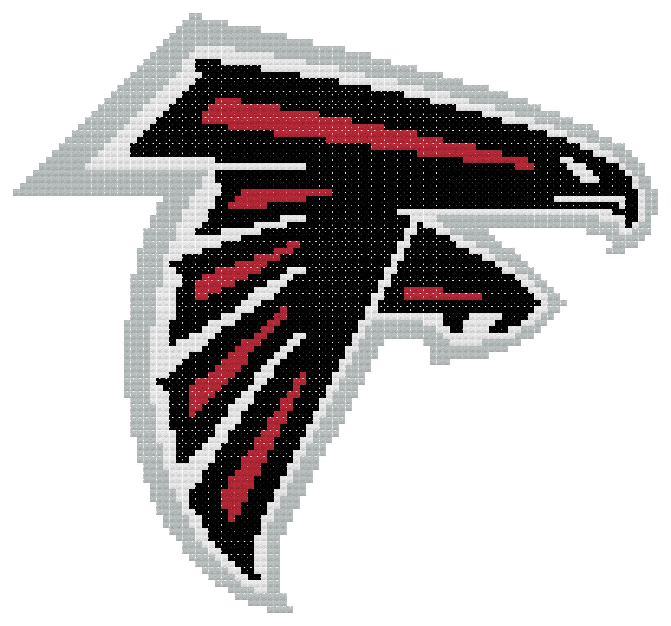 Counted Cross Stitch Pattern Atlanta Falcons Logo The Cross