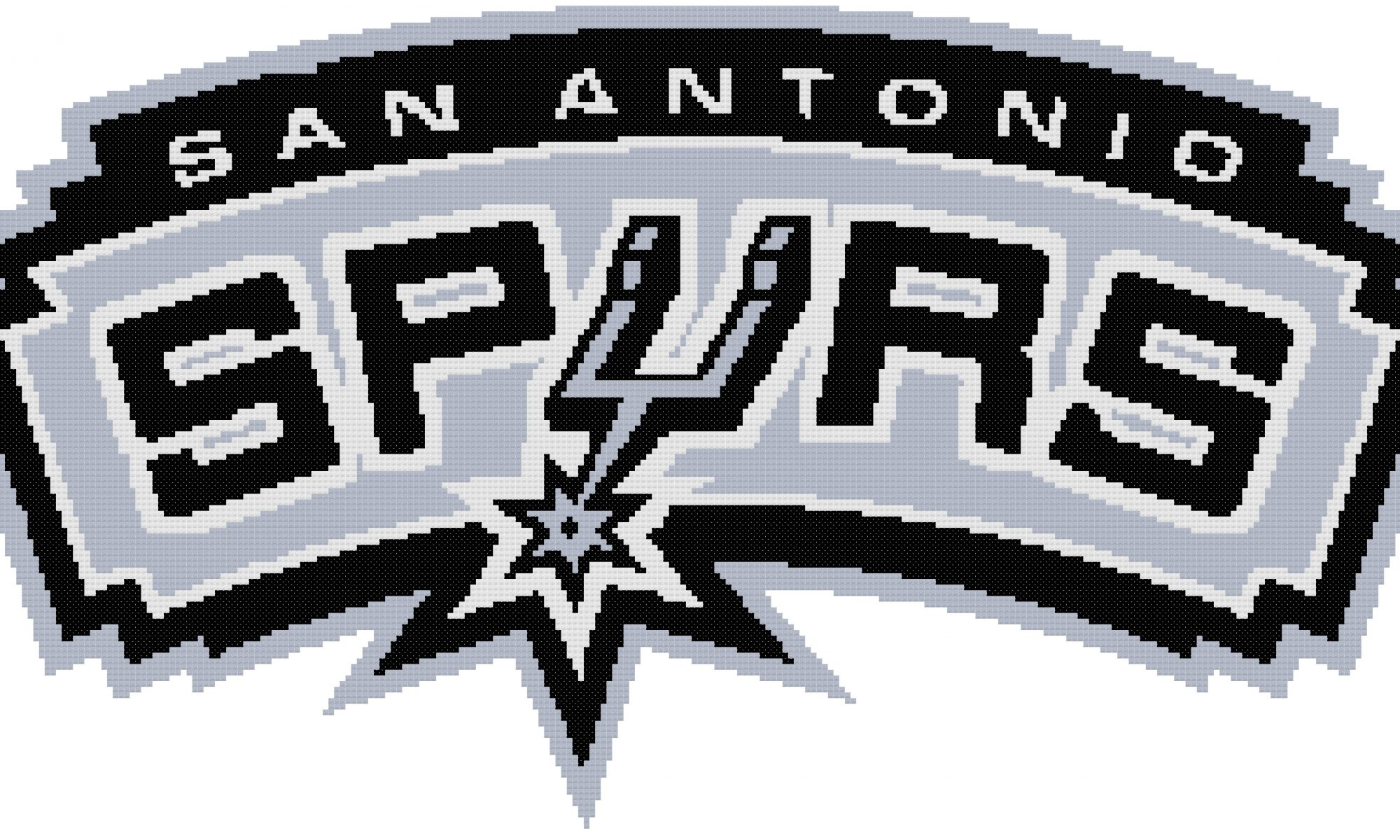 Home Basketball Patterns Counted Cross Stitch Pattern San Antonio Spurs Logo