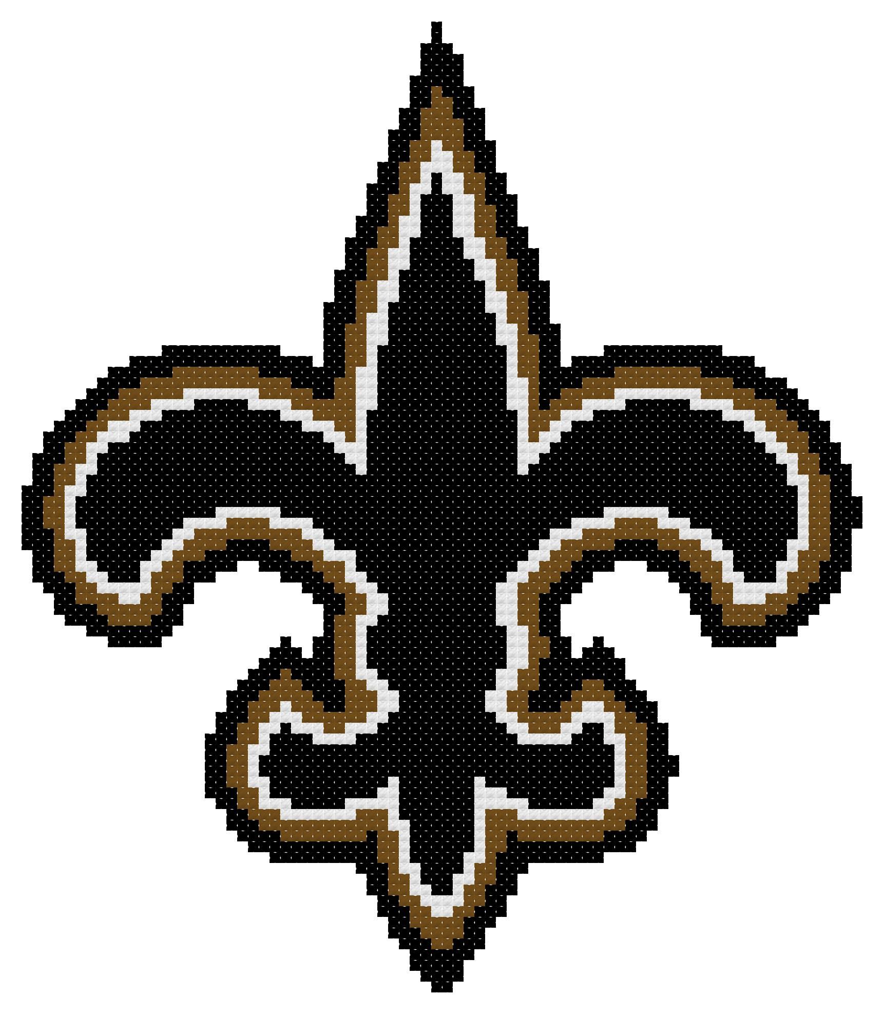 Counted Cross Stitch Pattern New Orleans Saints Logo The Cross