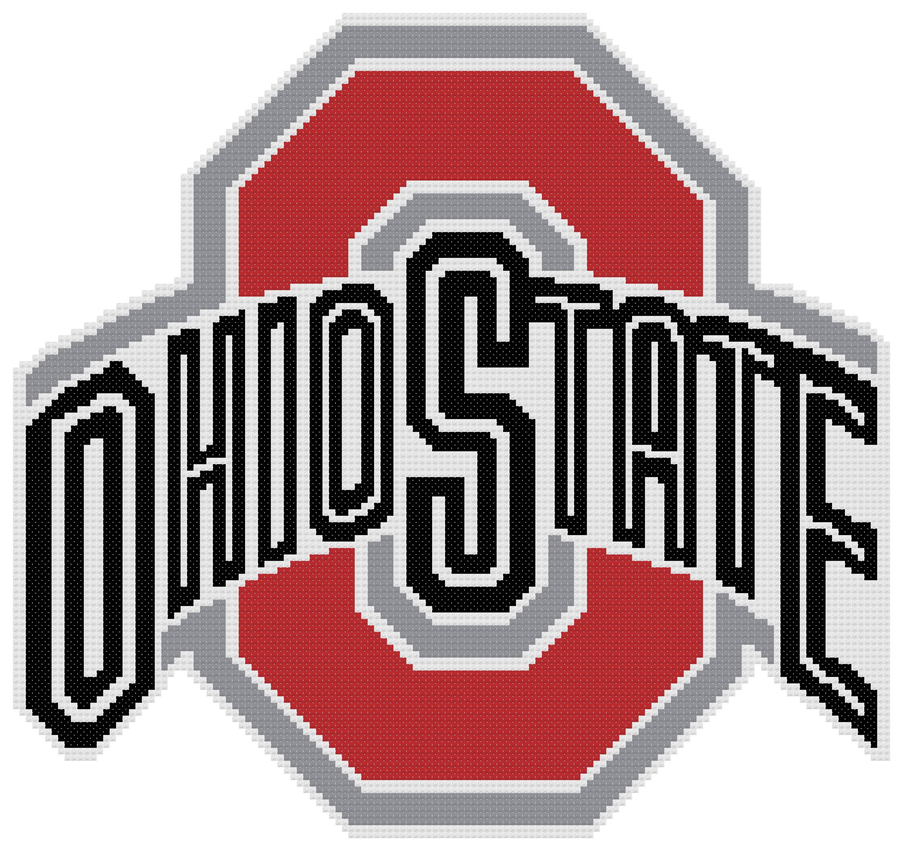Counted Cross Stitch Pattern, Ohio State Buckeyes Logo ...