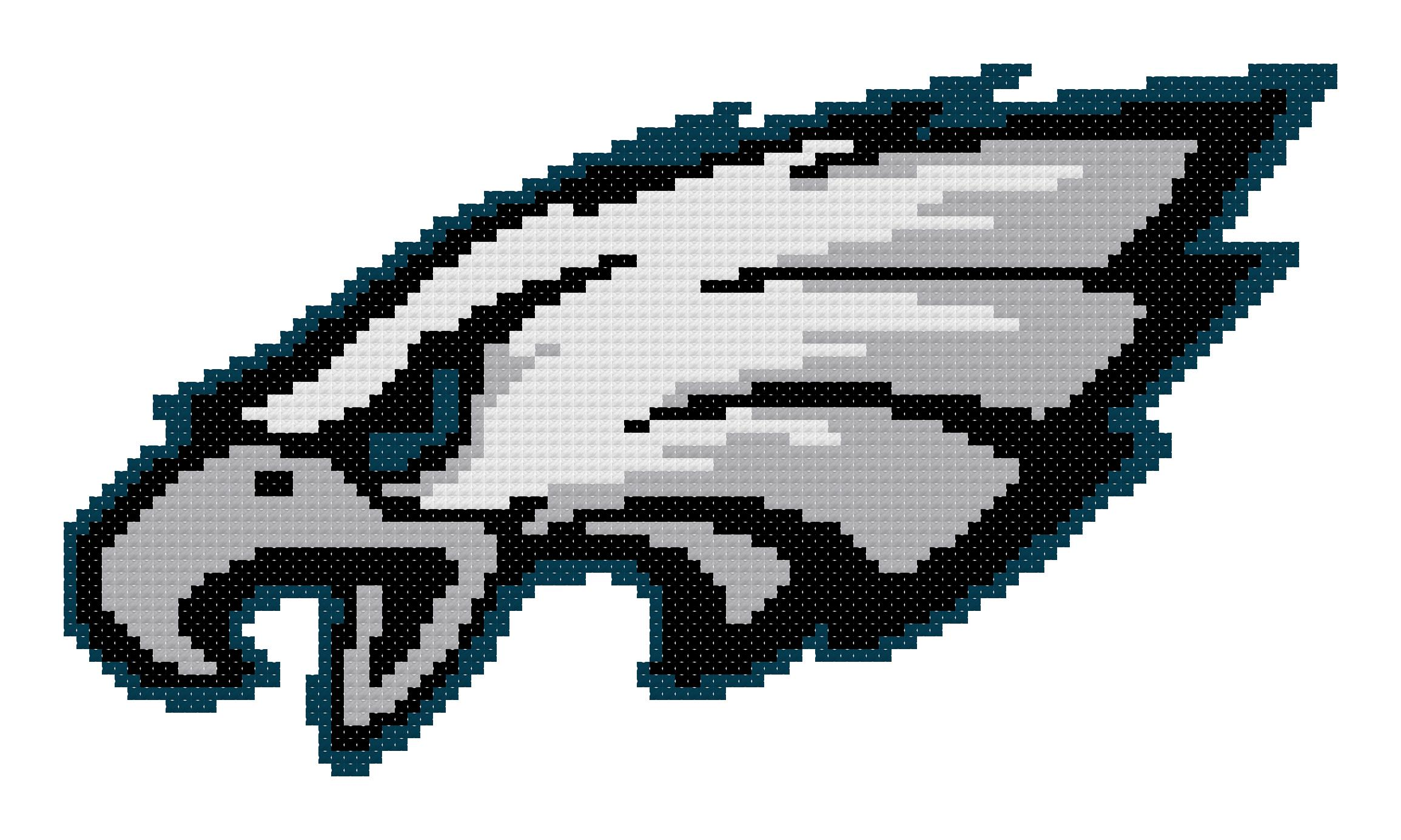 Counted Cross Stitch Pattern Philadelphia Eagles Logo The Cross