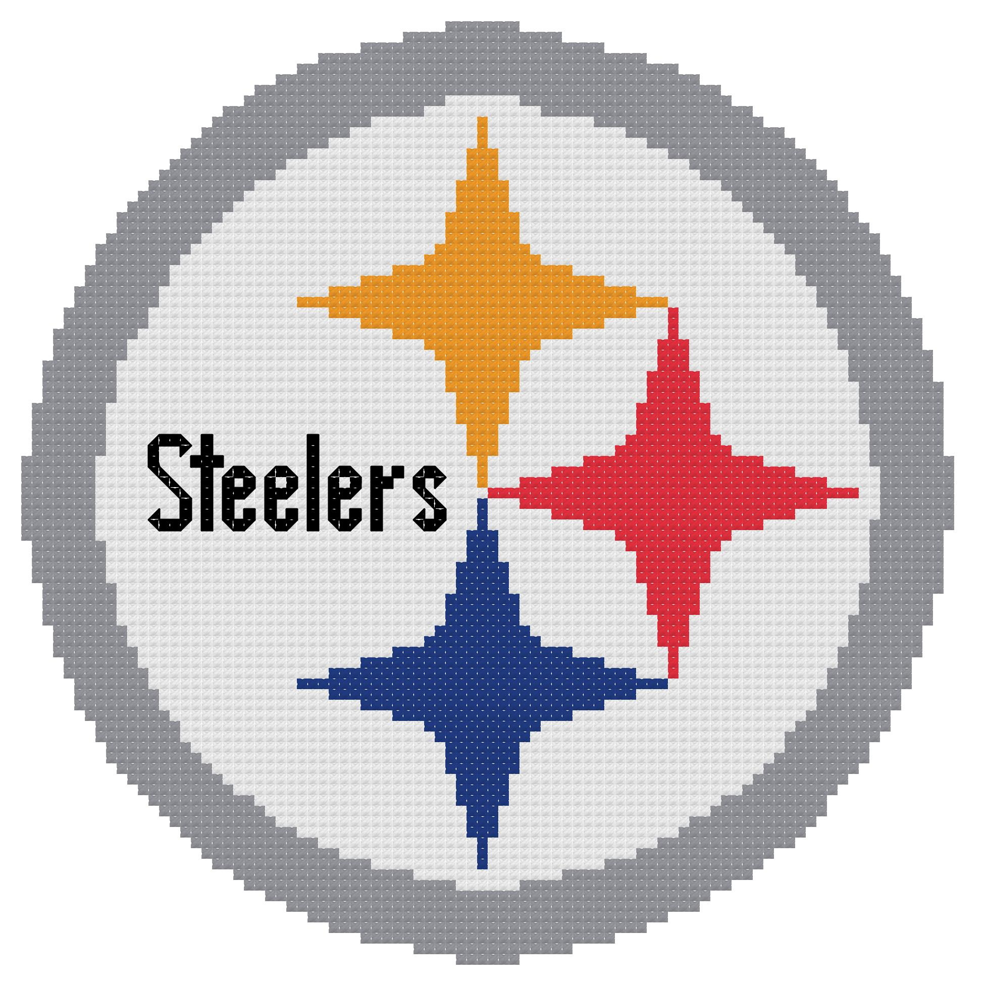 counted cross stitch pattern pittsburgh steelers logo the cross rh thecrossstitchguy com pittsburgh steelers logo pics